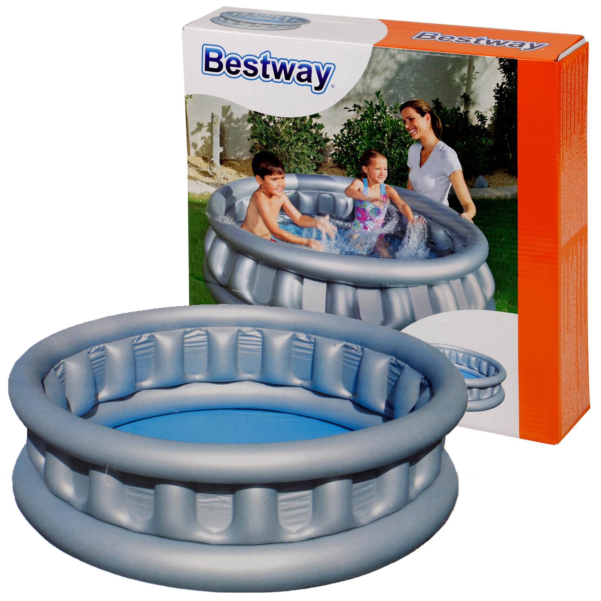 bestway riesig aufblasbar raumschiff wasser schwimm planschbecken garten kinder ebay. Black Bedroom Furniture Sets. Home Design Ideas