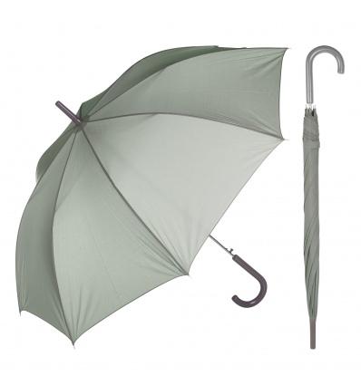 Grey Crook-Handle Umbrella [005431]