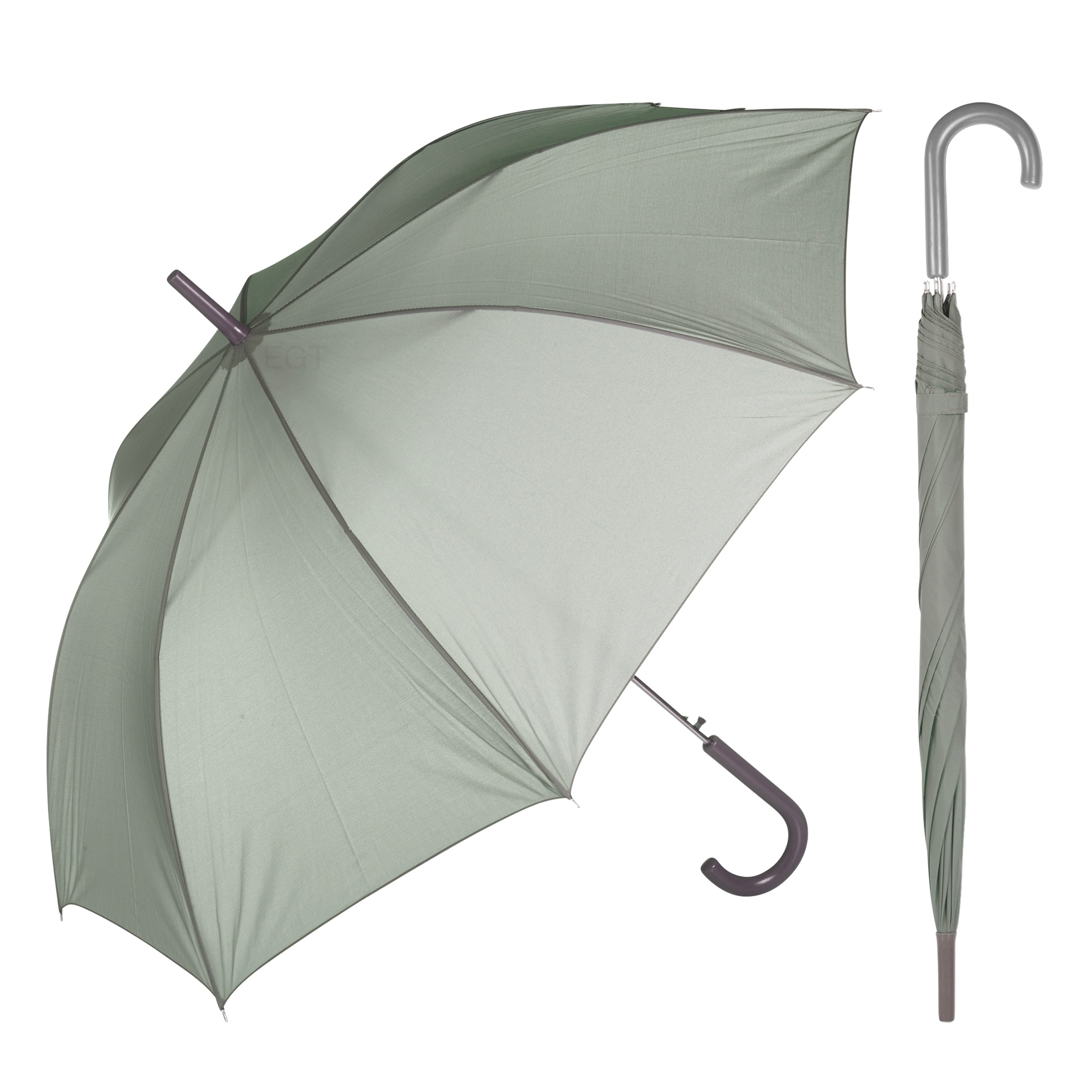 Large Wooden Crook Handle Automatic Opening Umbrella Brolly Walking Stick Rain