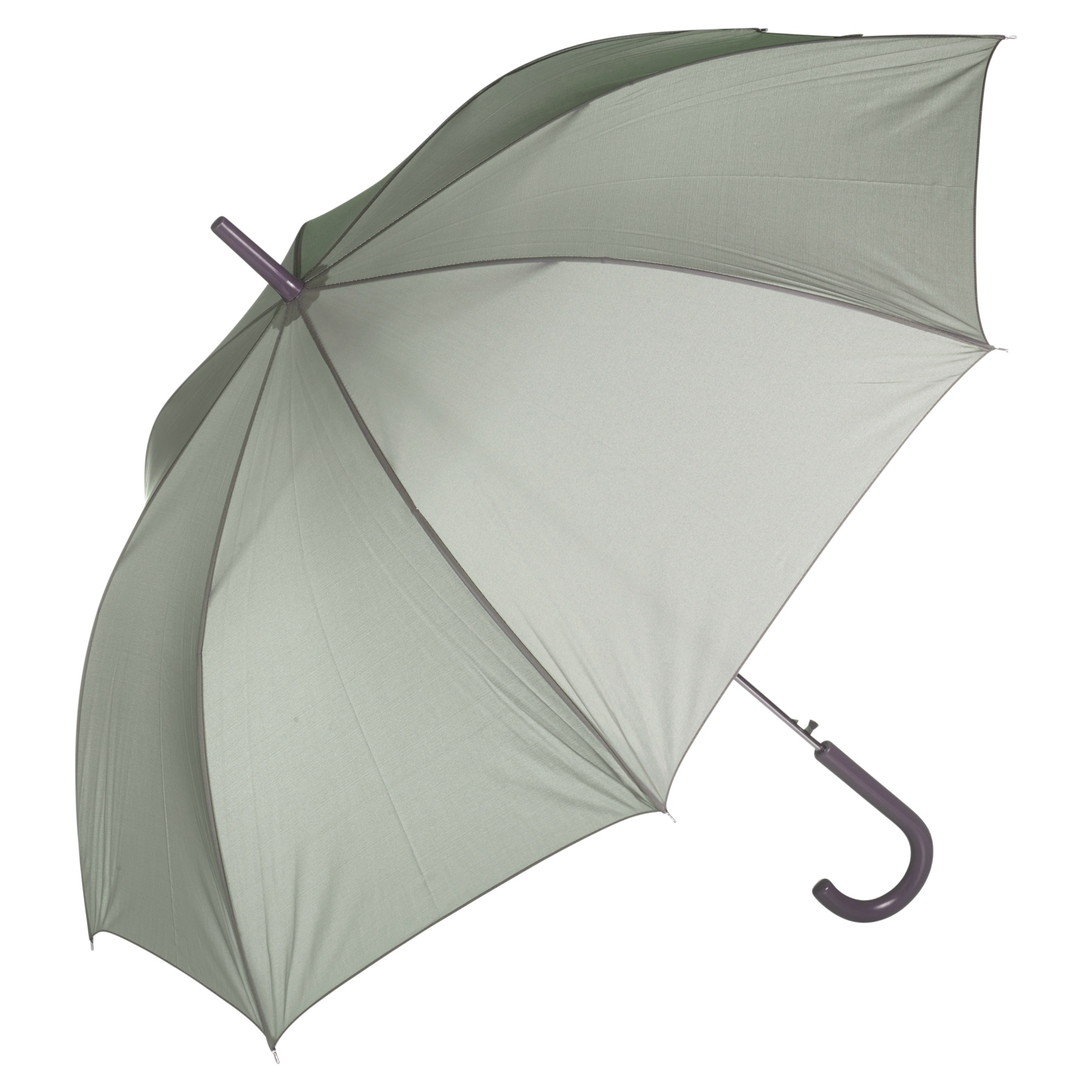 4487b9474 Details about Grey Crook Handle Umbrella Automatic Open Walking Stick Rain  Brolly Winter NEW