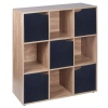 Wooden 9 Cubed Storage Units (Oak)[126366]