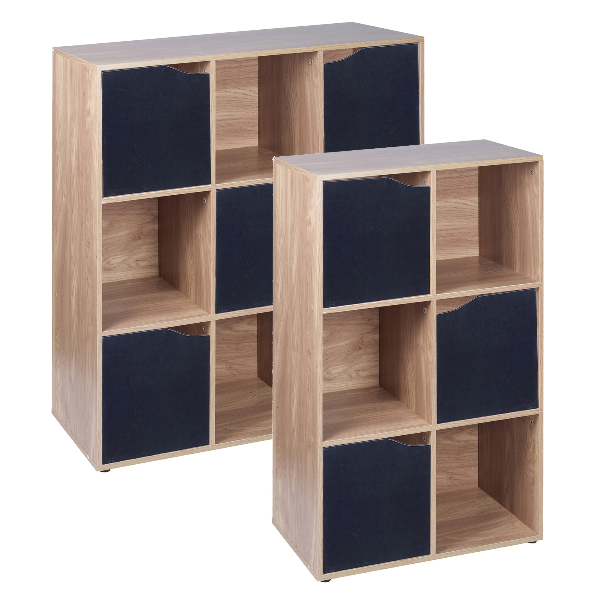 shelving unit with doors 6 9 cube oak modular bookcase shelving display shelf 26051