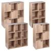 Wooden 6 Cubed Storage Units (Oak)[126359]