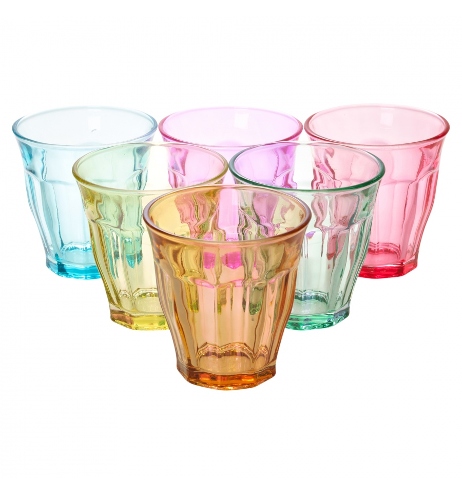 6pc set Colored Drinking Glasses 9oz [140500]