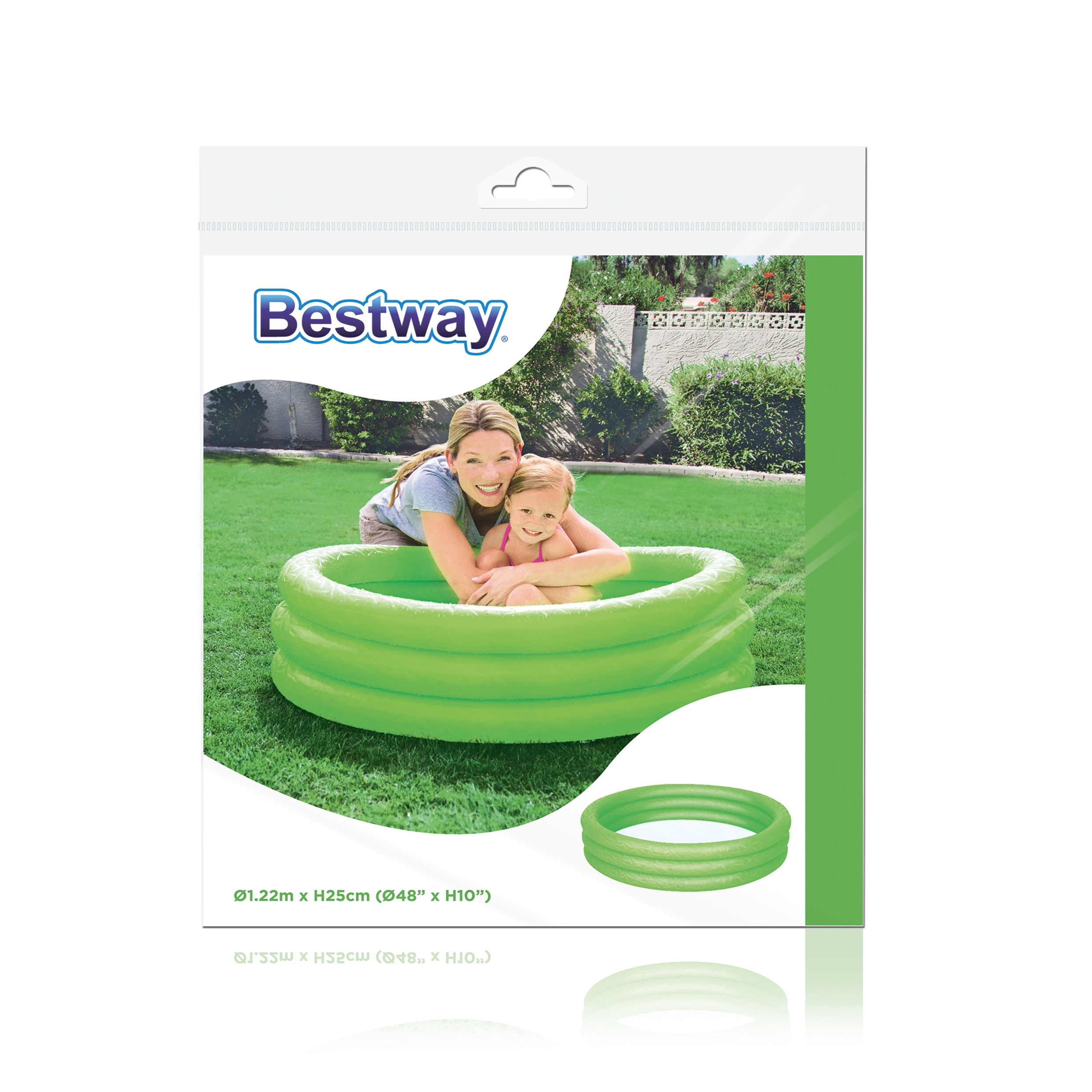 Bestway large inflatable water swimming paddling pool for Garden paddling pools