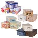 Collapsible Storage Boxes With Handles 37x31x16 cm