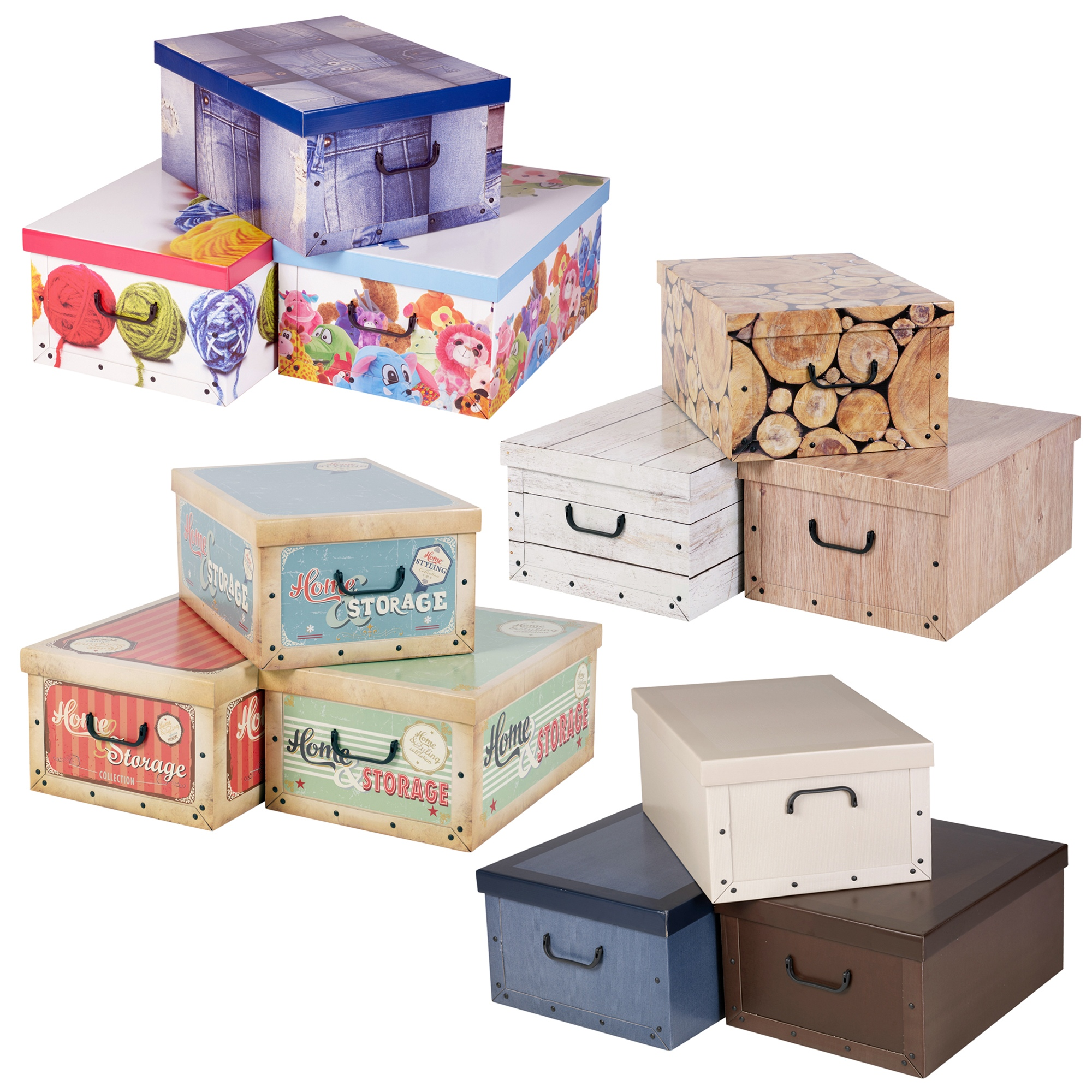 Decorative Boxes Uk: 3 Collapsible Underbed Cardboard Storage Boxes Elegant