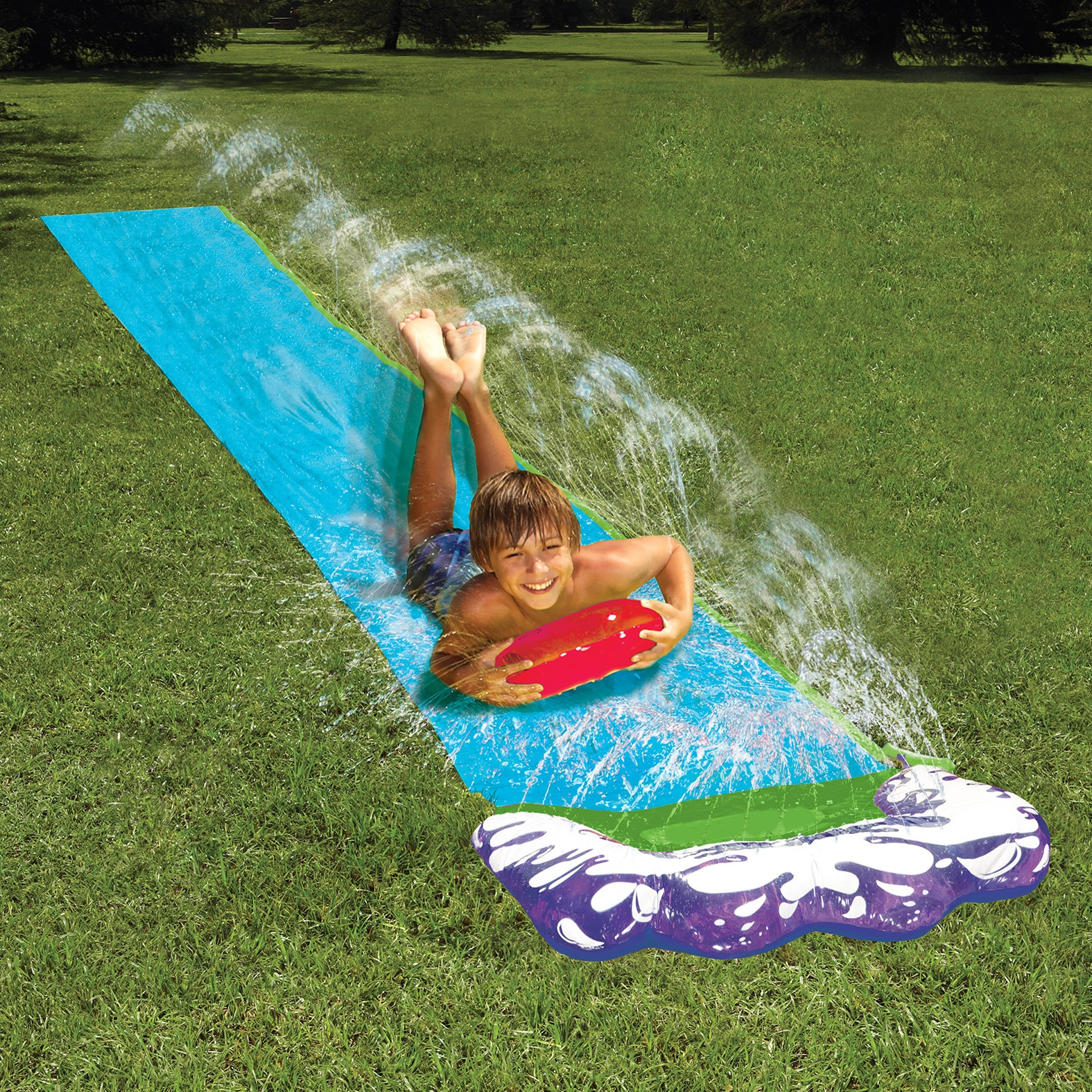 Inflatable Pool Slide Uk: Inflatable Outdoor Garden Water Slide Sprinkler Splash Mat