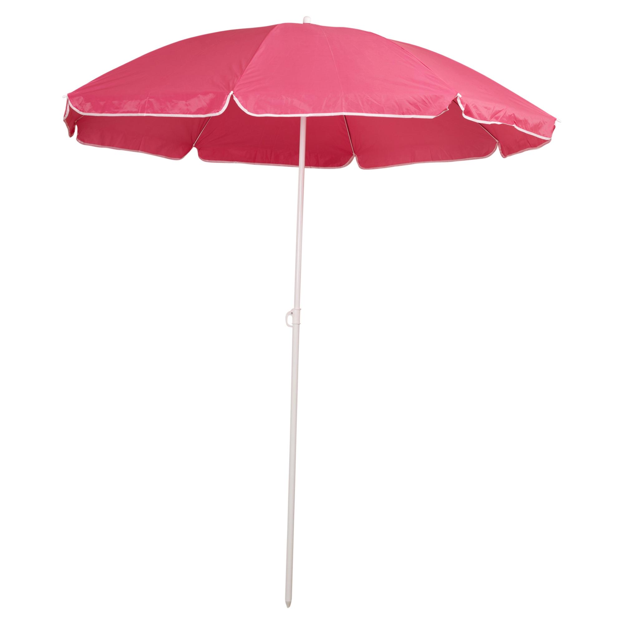 Patio Umbrella Uv Protection: Garden Beach Deck Chair Parasol Umbrella Sunshade Spike