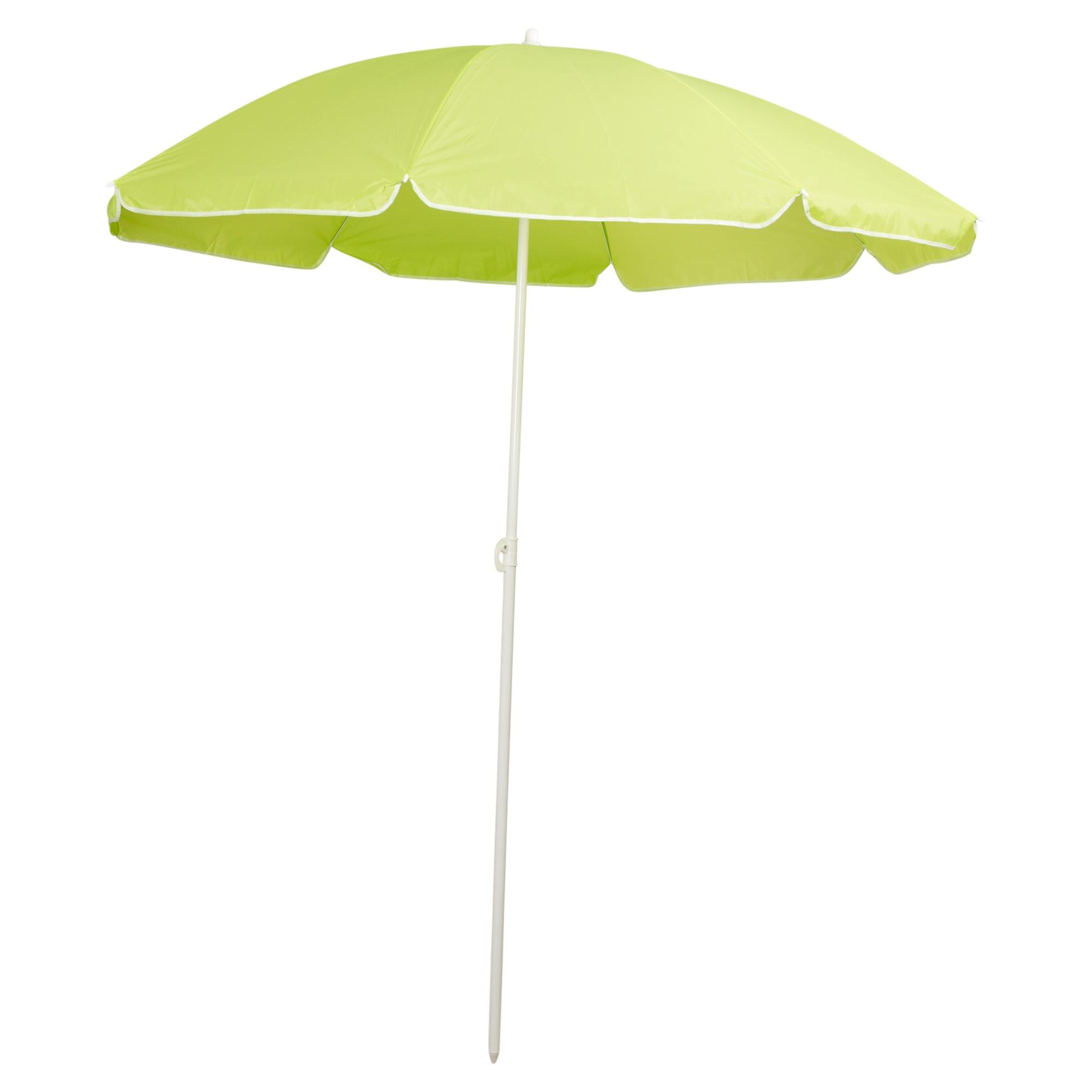Uv Patio Umbrella: Garden Beach Deck Chair Parasol Umbrella Sunshade Spike