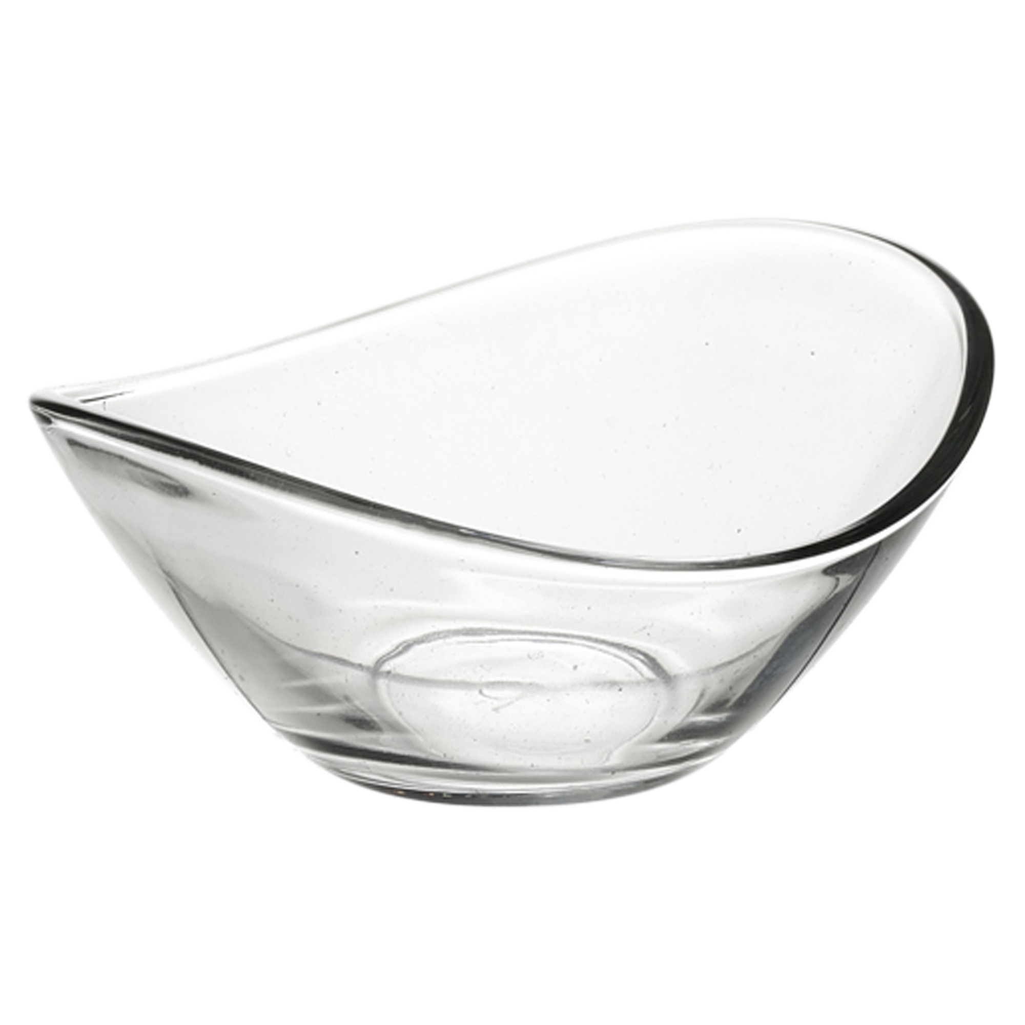 6 X Pasabahce Small Clear Glass Curved Dessert Bowls Ice