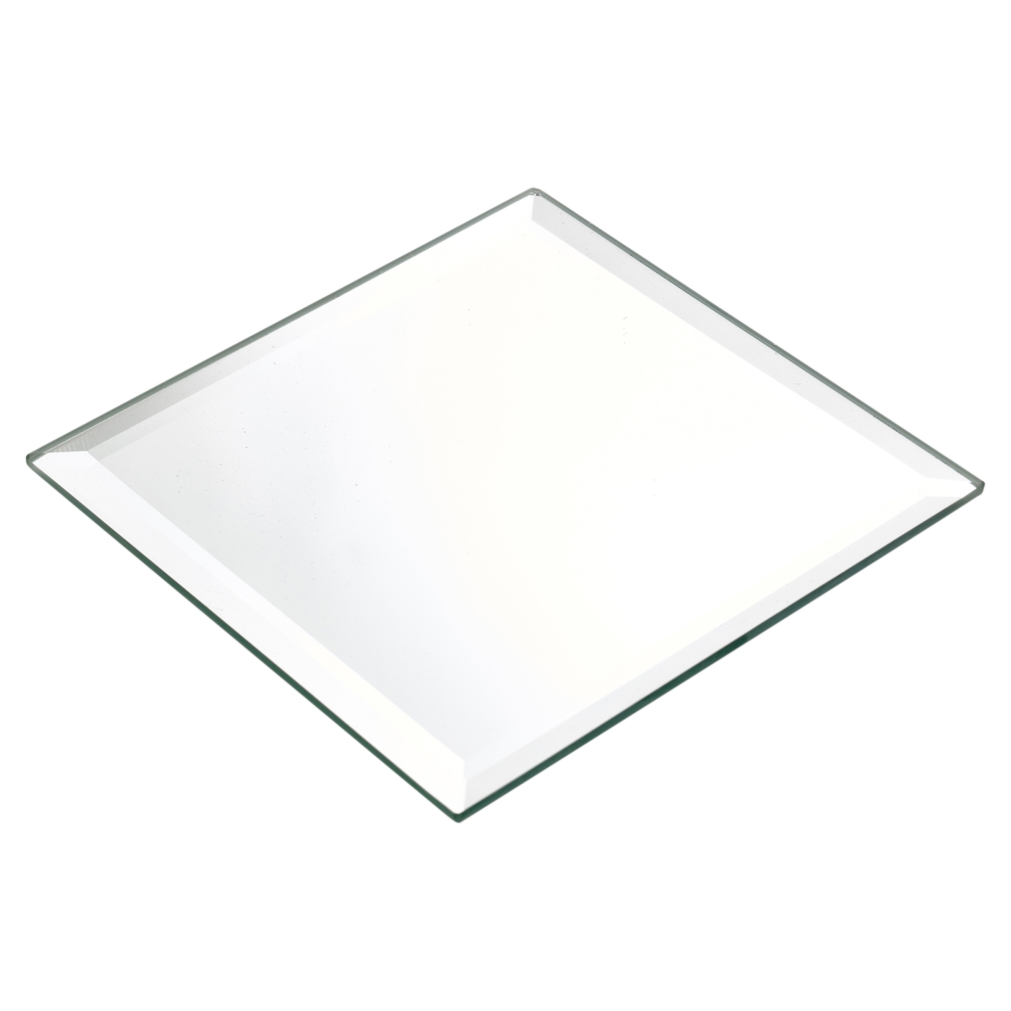 Square Glass Cake Plate Non Stand