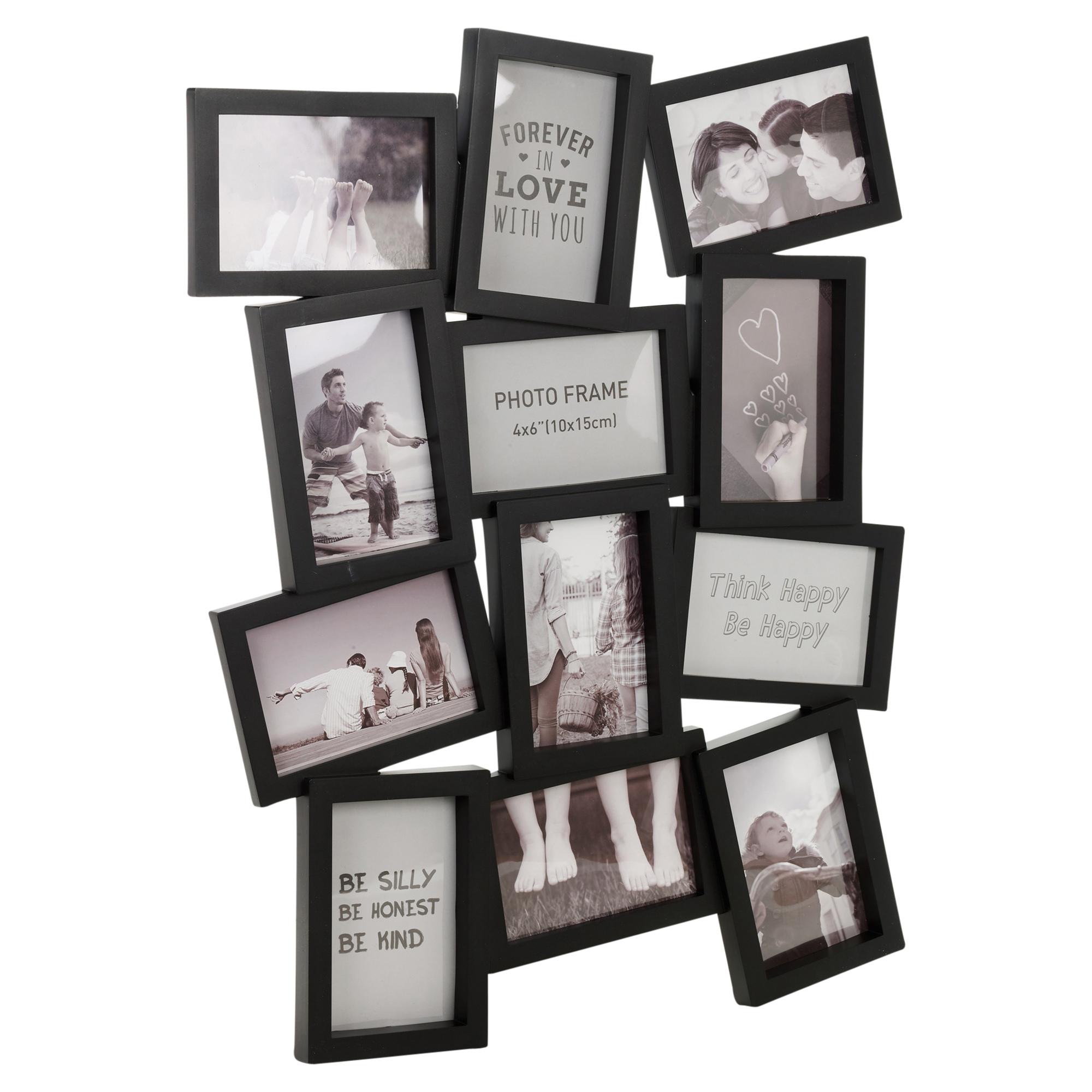 11 or 12 coloured large multi picture photo frame collage aperture wall decor ebay. Black Bedroom Furniture Sets. Home Design Ideas
