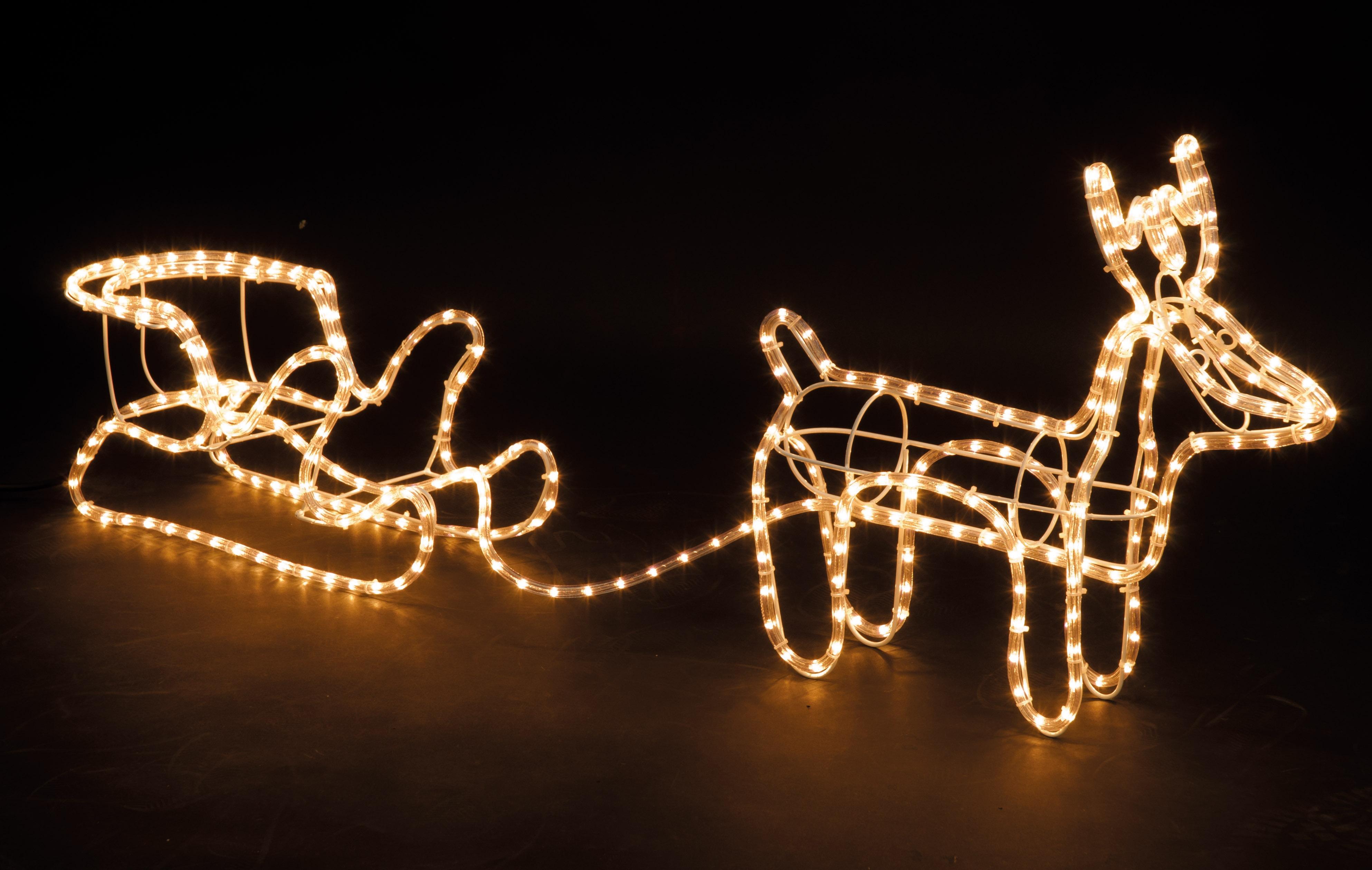 Christmas Lights White Cable