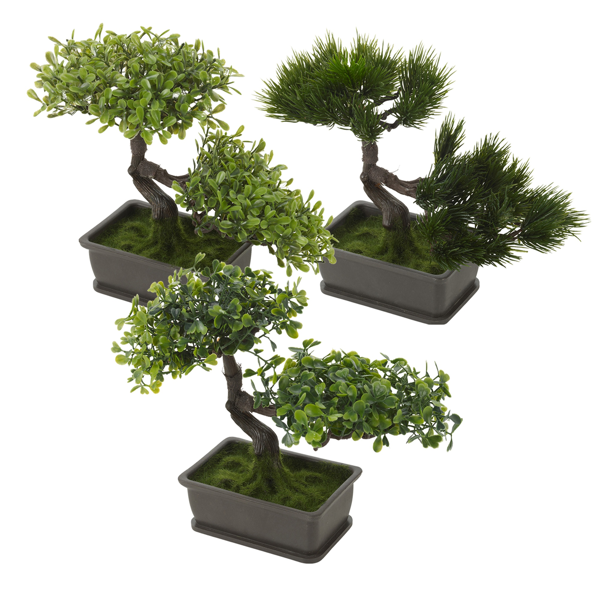 d corative artificiel r aliste plastique bureau faux bosnai arbre en pot plante ebay. Black Bedroom Furniture Sets. Home Design Ideas
