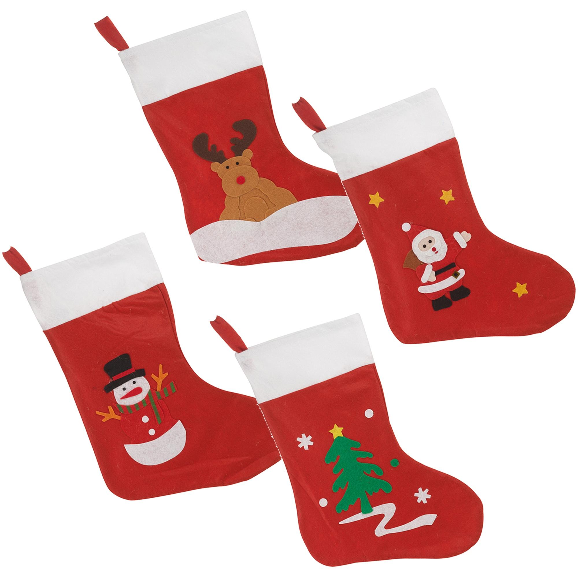 Details About Christmas Santa Tree Snowman Soft Stockings Socks Gift Bag Sack Xmas Presents