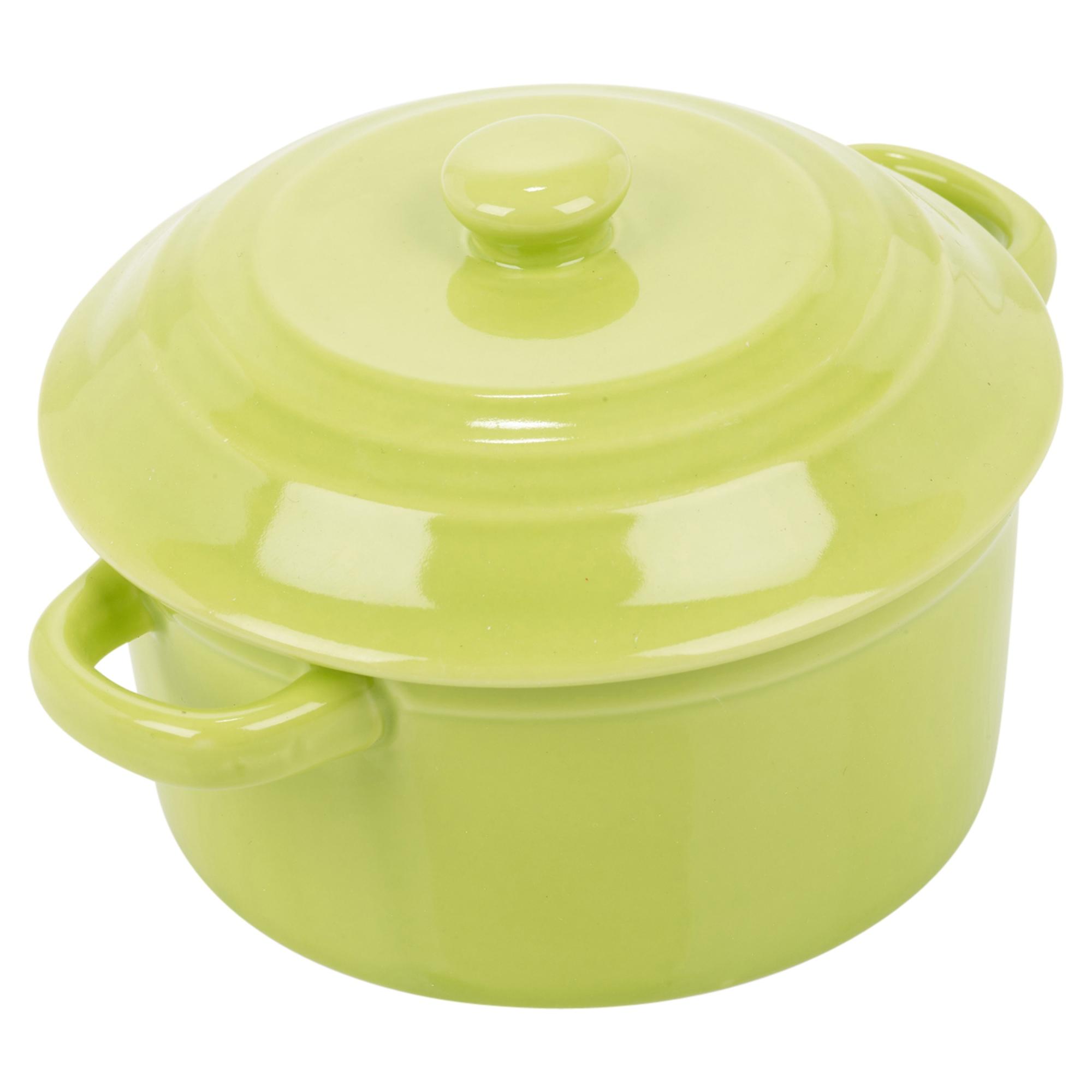 1 2 4 0 3l Small Porcelain Pan Lid Stoneware Mini Oven
