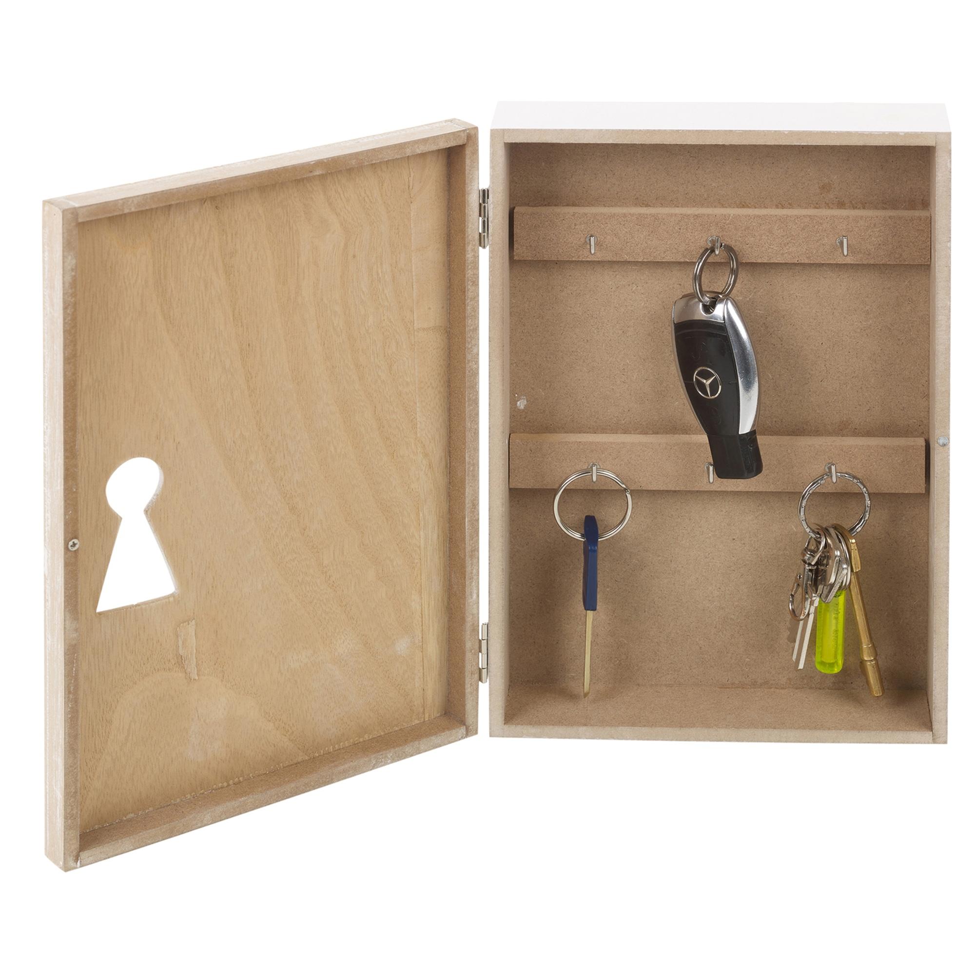Modern brown mdf wooden hanging key cupboard cabinet box