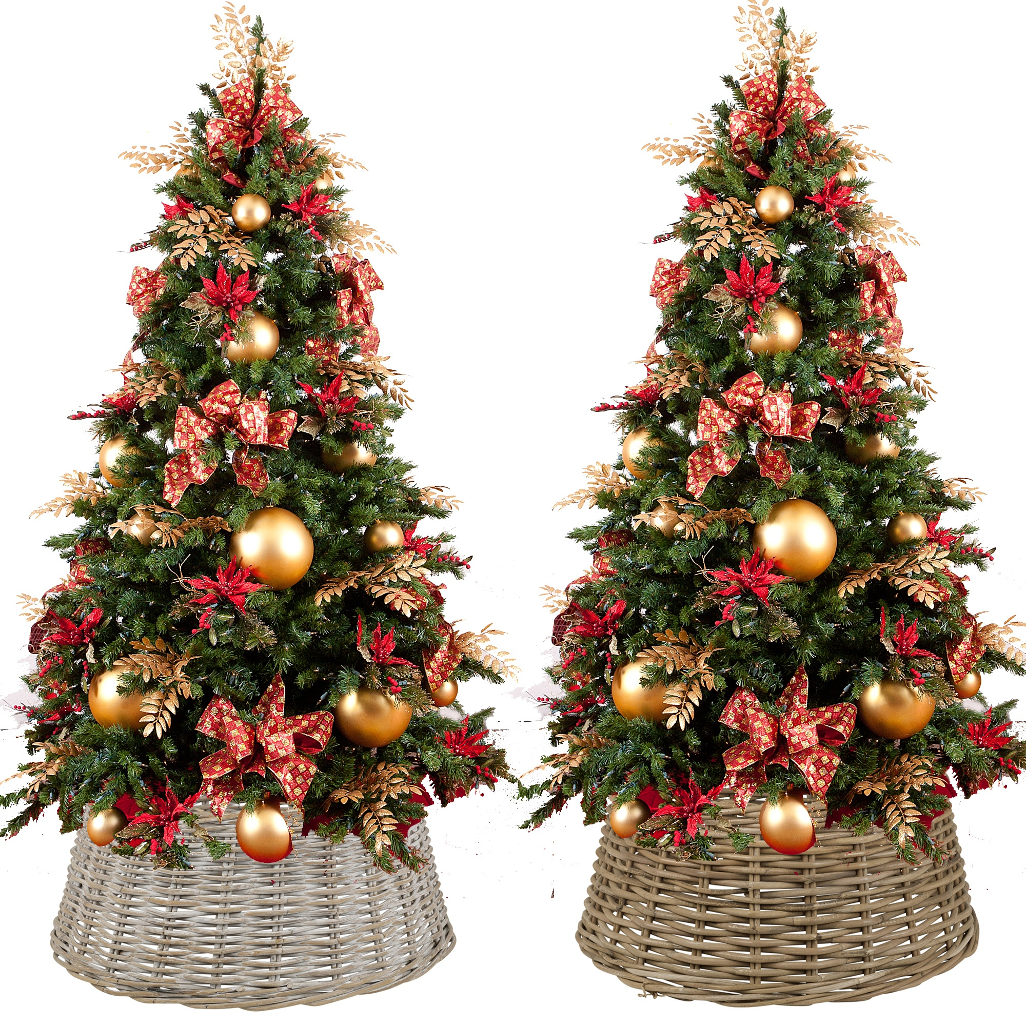 Large Willow Christmas Tree Skirt Xmas Rattan Wicker Natural Base Cover Stand Ebay