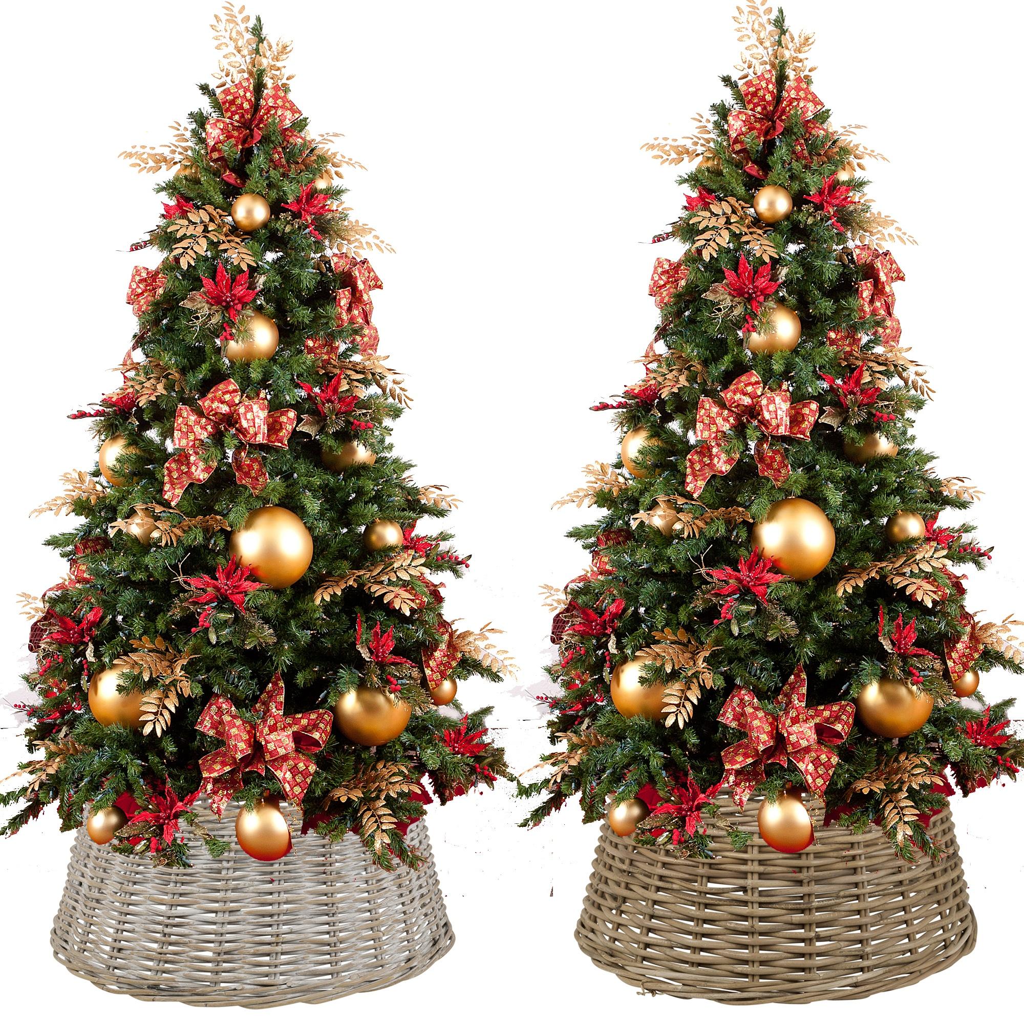 Large Christmas Tree: Large Willow Christmas Tree Skirt Xmas Rattan Wicker