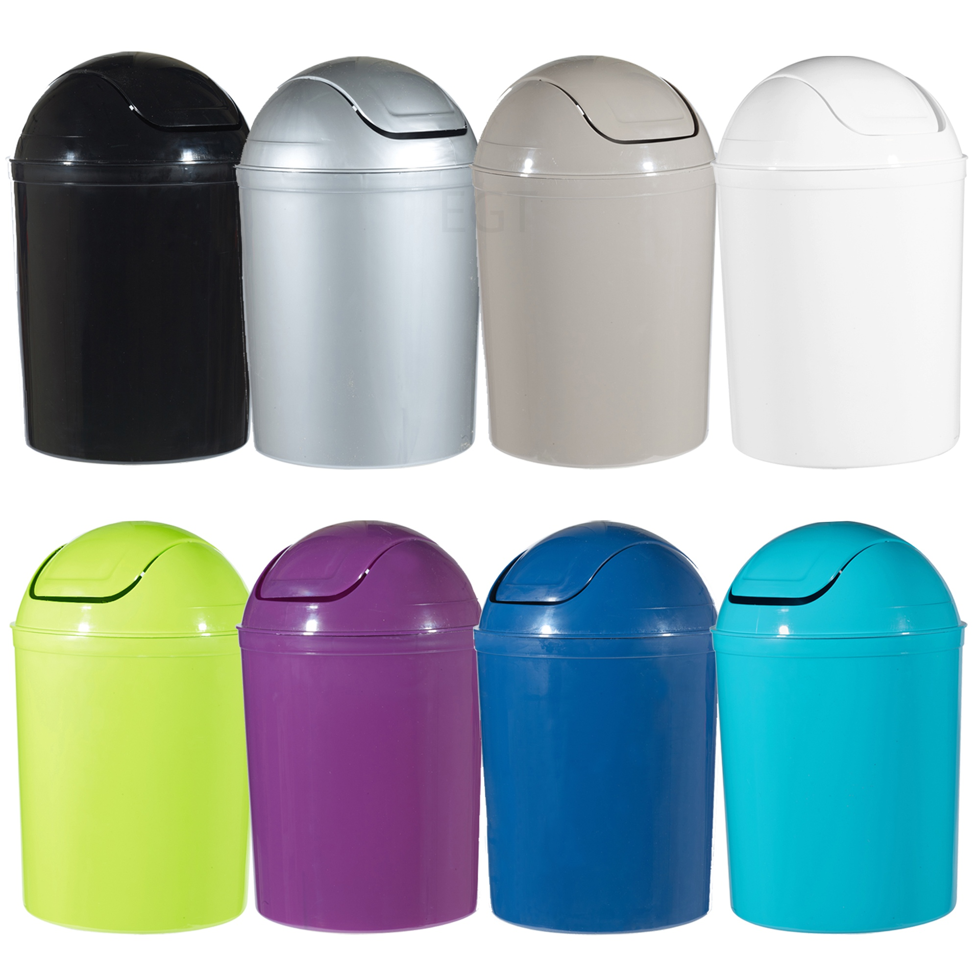 plastic 5 liter swing lid waste dustbin rubbish garbage bin bathroom toilet ebay