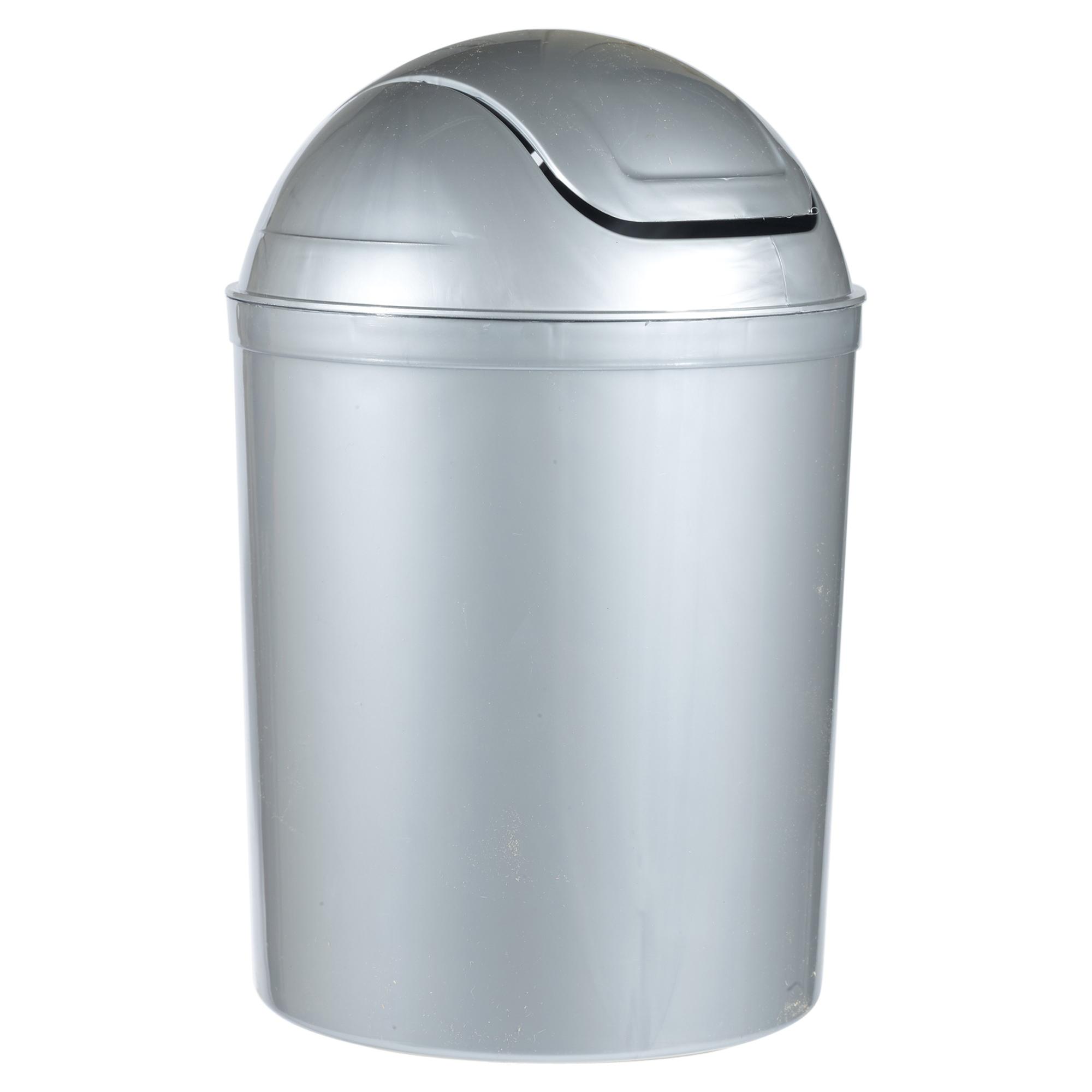 Plastic 5 Litre Swing Lid Waste Dustbin Rubbish Recycling Bin ...