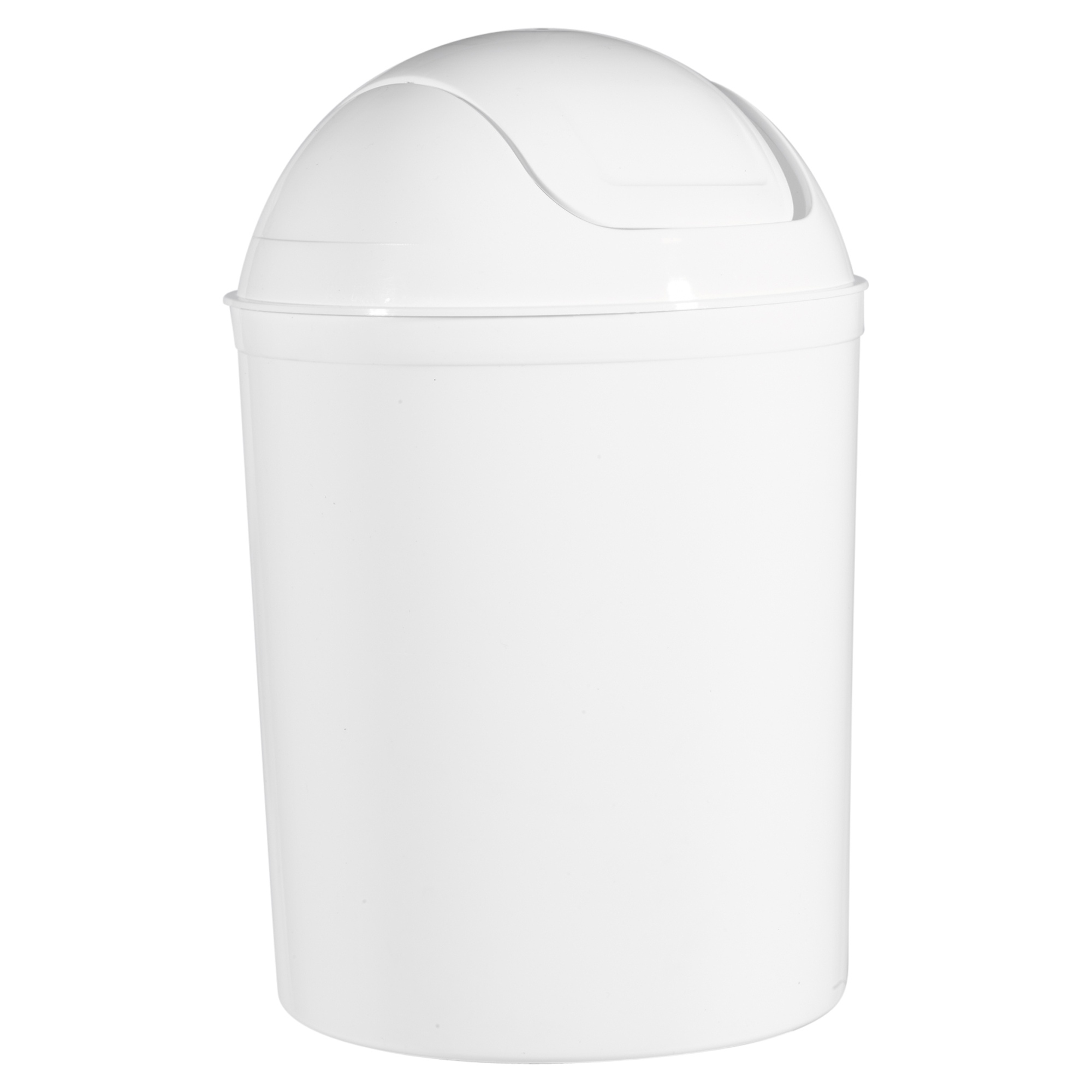 Plastic 5 Liter Swing Lid Waste Dustbin Rubbish Garbage Bin Bathroom Toilet