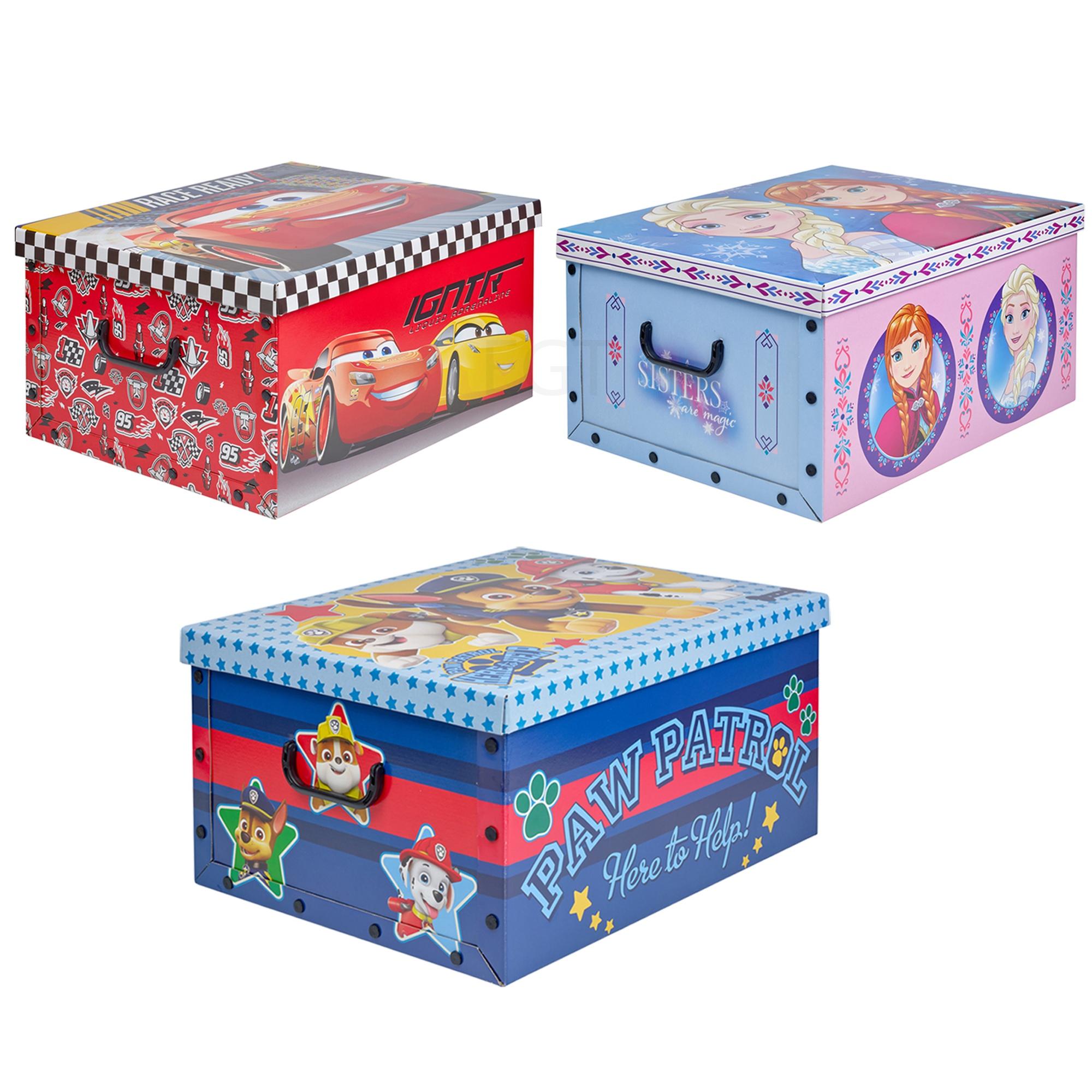 2 x disney themen unter bett spielzeug aufbewahrungsboxen. Black Bedroom Furniture Sets. Home Design Ideas