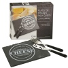 3pc Rectangle Cheese & Knife Set [557965]