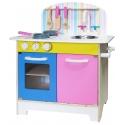 Pink & Blue Wooden 25pc Kitchen Set Inc Accessories [253152]