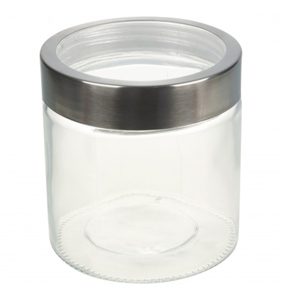 Clear Container with Metal Lid