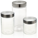 Clear Glass Container Jar with Metal Lid