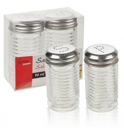 9cm Glass Salt & Pepper Set [296269]
