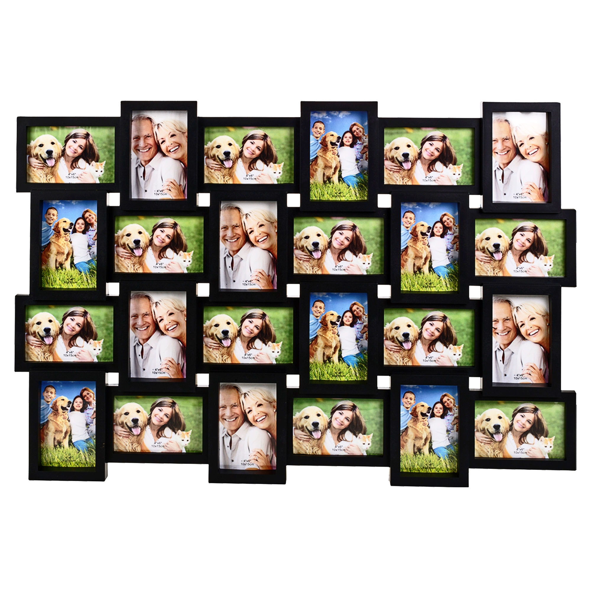 24 Large Photos Multi Picture Wall Frame Memories Collage Aperture ...