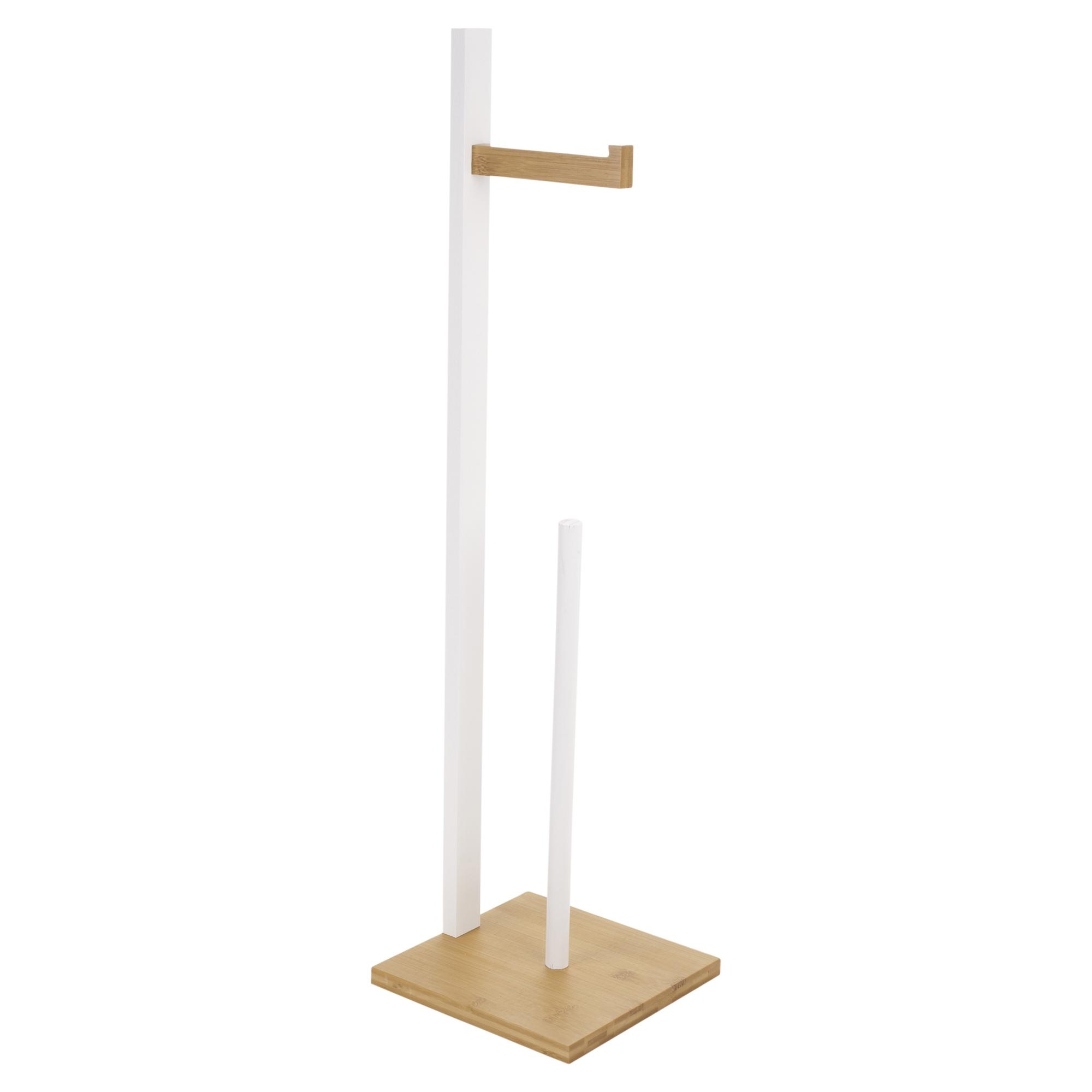 freistehend holz toilettenpapier rollen halter gewebe spender aufbewahrung stand ebay. Black Bedroom Furniture Sets. Home Design Ideas