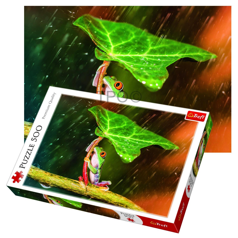 Green umbrella 500 Puzzles
