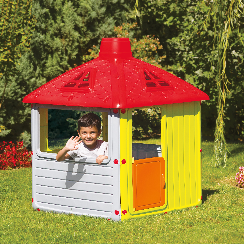 Childrens City House Indoor Outdoor Playhouse Kids Summer Garden Fun