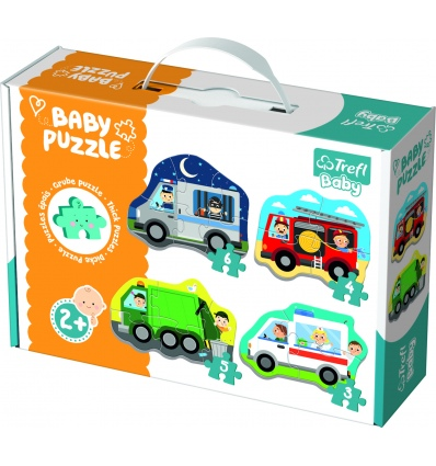 Puzzles - Baby Classic - Vehicles and jobs [360714]