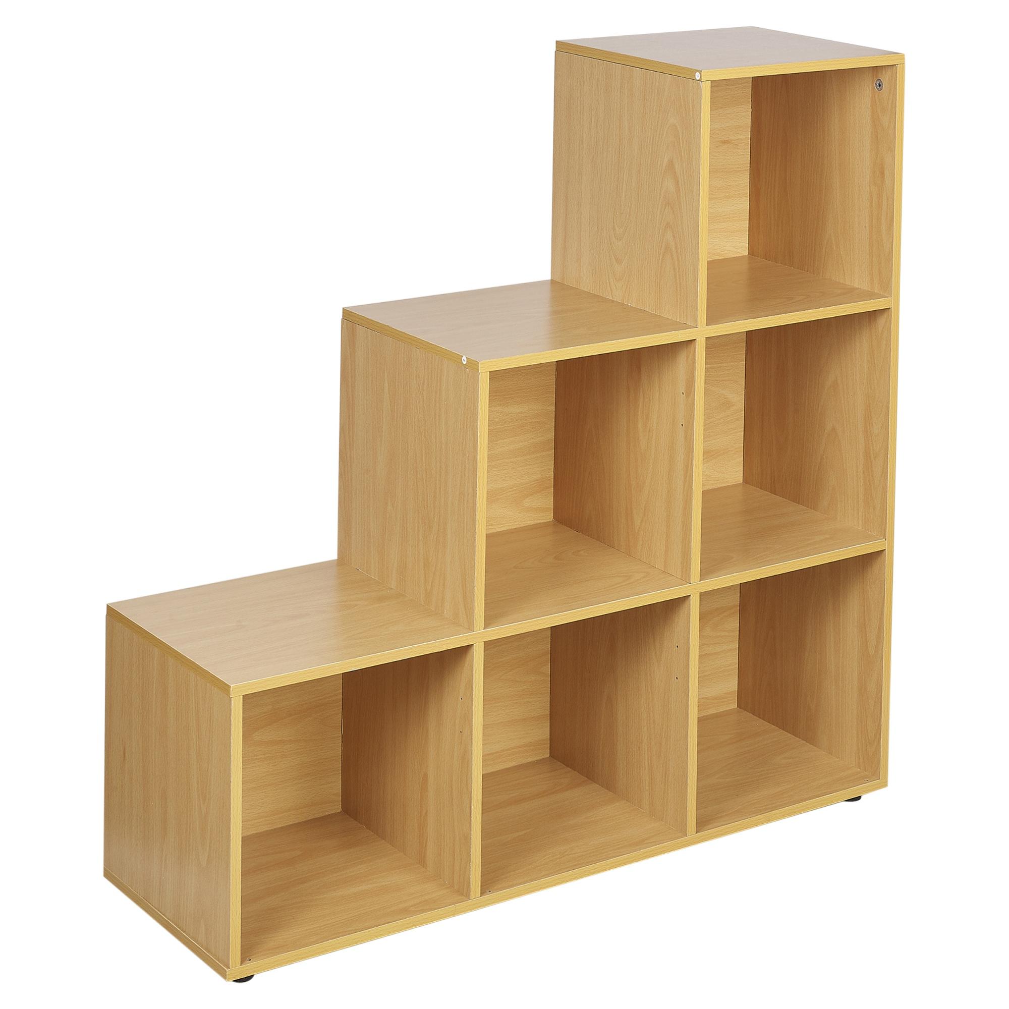 6 Cube Step Storage Bookcase Unit Shelf Home Office