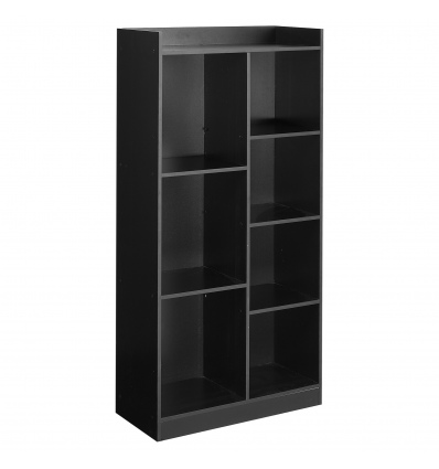 Black Tall 7 Cube Bookcase [KD-064]