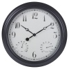 Black 38cm Outdoor Wall Clock [548143]