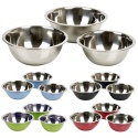 3pc Coloured Mixing Bowls 22/22/24cm [065540