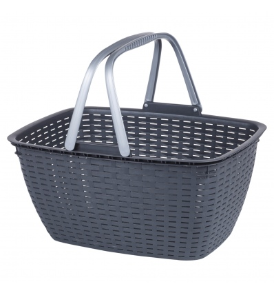Black Basket With Handles [073959]