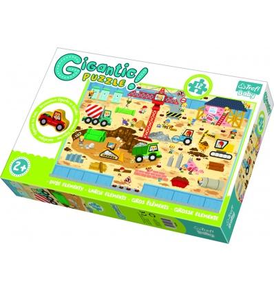 """Gigantic"" - Construction site / Trefl Baby Floor Puzzle [90755]"