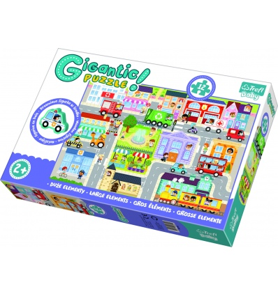 """Gigantic"" - In the small town / Trefl Baby Floor Puzzle [90754]"