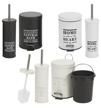 3L Pedal Bin & Toilet Brush [040240]