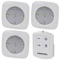 3pc LED Push Light Square  [072067]