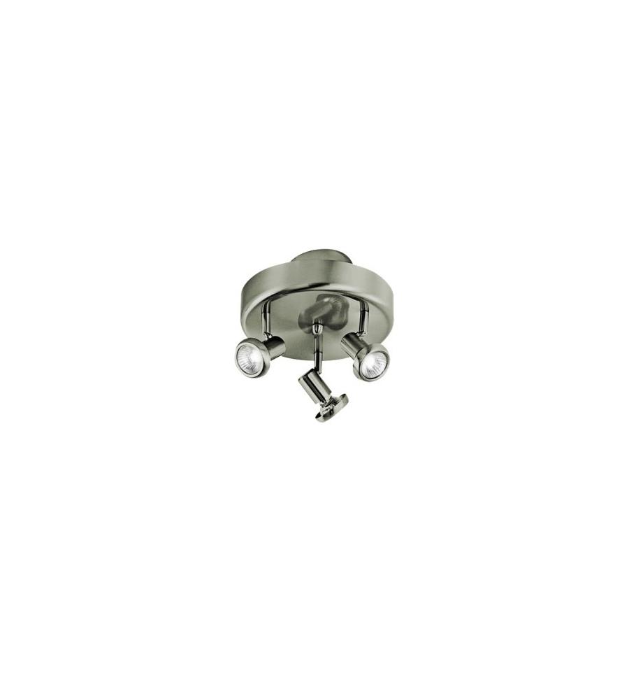 3 Adjustable Round Plug In Chrome Ceiling Spotlights
