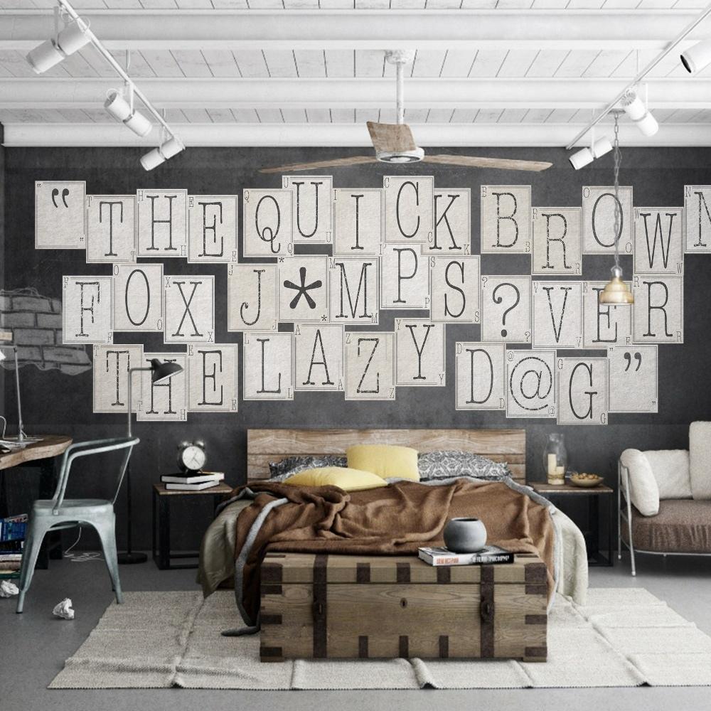 Lettere Da Appendere Al Muro dettagli su 1wall tipografia lettere 64 pezzi collage muro carta murale  creativo design casa