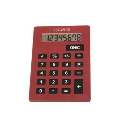 Red Topwrite Jumbo 8 Digit Calculator